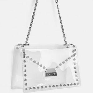 ZARA Transparent NEW Stud Bag
